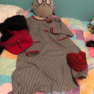 Girls' custom made stretch wool dress, 10-11 yrs